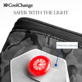 CoolChange Bicycle Bags & Panniers Black Camouflage CoolChange Cycling Portable Waterproof Tail Seat Bag