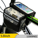 CoolChange Bicycle Bags & Panniers CoolChange Cycling Front Frame Bag Tube Pannier Double Pouch