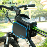 CoolChange Bicycle Bags & Panniers CoolChange Cycling Front Tube Waterproof Bag Double IPouch