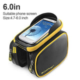 CoolChange Bicycle Bags & Panniers Yellow black 60 / China CoolChange Cycling Front Frame Tube Waterproof Bag Double IPouch