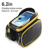 CoolChange Bicycle Bags & Panniers Yellow black 62 / China CoolChange Cycling Front Frame Tube Waterproof Bag Double IPouch