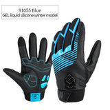 CoolChange Cycling Gloves 91055 Blue Winter / M CoolChange Cycling Winter Thermal Waterproof Long Finger Touch Screen Gloves