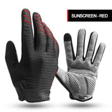 CoolChange Cycling Full Finger Shockproof MTB Bike Touch Screen Gloves
