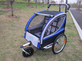 2 In 1 Bike Trailer Toddler Stroller With Double Brake Air Wheel Bike Camper