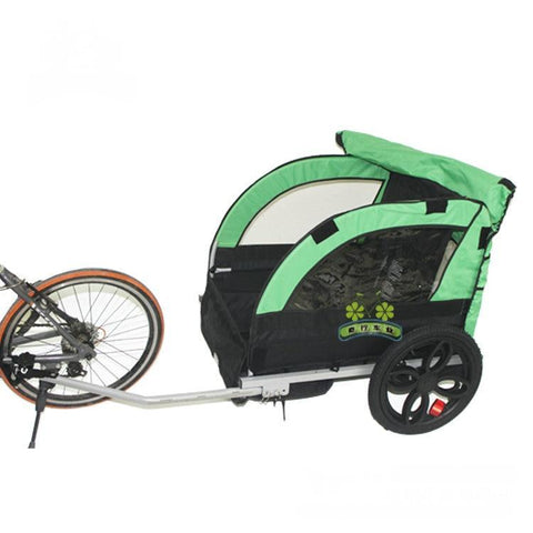2 Kids Child Bicycle Tow Behind Double Seat Trailer
