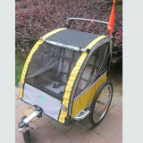 Giant Bicycle Trailers Yellow 2 In 1 Bike Trailer Toddler Stroller With Double Brake Air Wheel Bike Camper