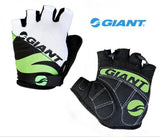 Giant Cycling Gloves green grey / M Giant Cycling Anti-slip Anti-sweat Men Women Half Finger Gloves Breathable