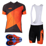 KTM Cycling Clothing Biking Jersey and Padded Shorts