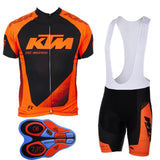 KTM Pro Biking Outfit Cycle Jersey and Padded Bib Shorts