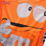 M&M Cycling Jersey Orange M&M Retro Cycling Jersey