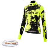 Morvelo Cycling Jerseys 4 / XS Morvelo Cycling Jersey 2019 long sleeve Women Winter Thermal fleece bicycle Outdoor clothing sports bicycle Cycling Clothing