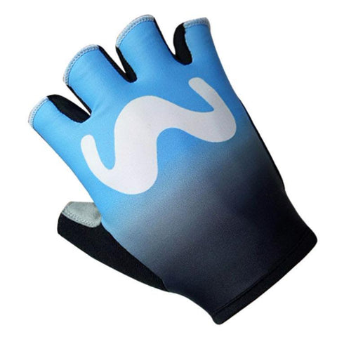 Endura Movistar Team Short Gloves Blue