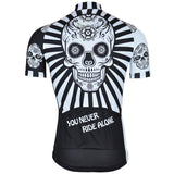 Retro Cycling Cycling Jersey Skull Day of Dead Retro Cycling Jersey