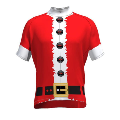 Santa Clause Red Retro Cycling Jersey