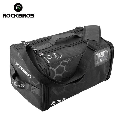 ROCKBROS Cycling Triathlon Gym Race Bag With Rain Cover Waterproof