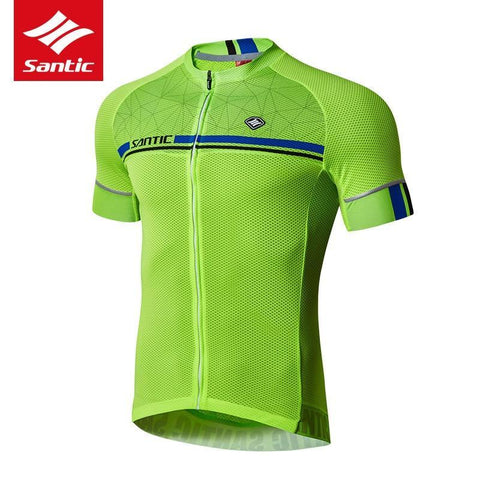 Santic Kamen Lightgreen Men Cycling Jersey Short Sleeve