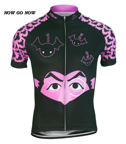 The Count Cycling Jersey Sesame Street Purple Bats