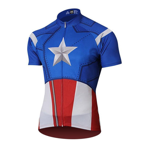 Captain America Superhero Cycling Jersey