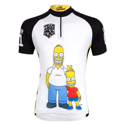 The Simpsons Team Jersey Half Zip Homer Bart Wide Load
