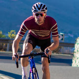 Stolen Goat Men's Bodyline Flex Maroon Cycling Jersey