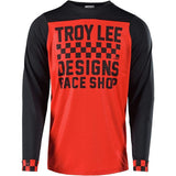 Troy Lee Designs Cycling Jersey Small / Checker Red/Black Troy Lee Designs Skyline Checker Men's Off-Road BMX Cycling Jersey