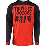 Troy Lee Designs Cycling Jersey Small / Heather Gray/Black Troy Lee Designs Skyline Checker Men's Off-Road BMX Cycling Jersey