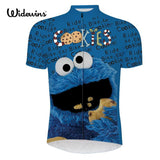 Widewins Cycling Jerseys Green / XXS Cookie Monster Sesame Street Cycling Jersey