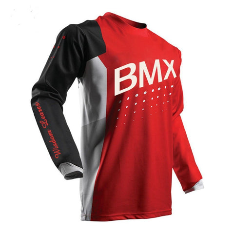 Wisdom Leaves Mens Cycling Jerseys Long Sleeve MTB Bike Bicycle Shirts