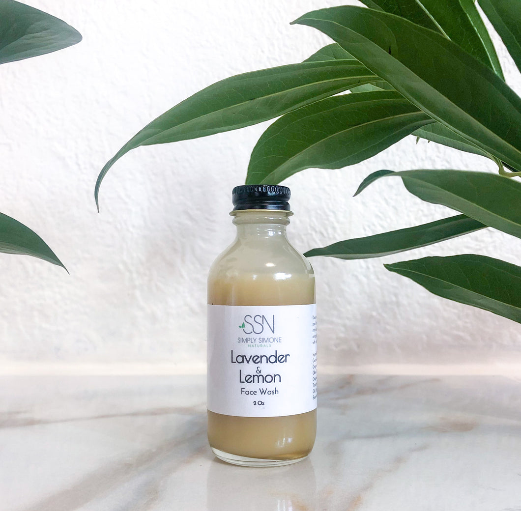 Lavender and Lemon Face Wash