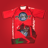 Red 10 P Rash Guard and Spats Combo