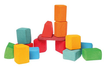 15 coloured blocks