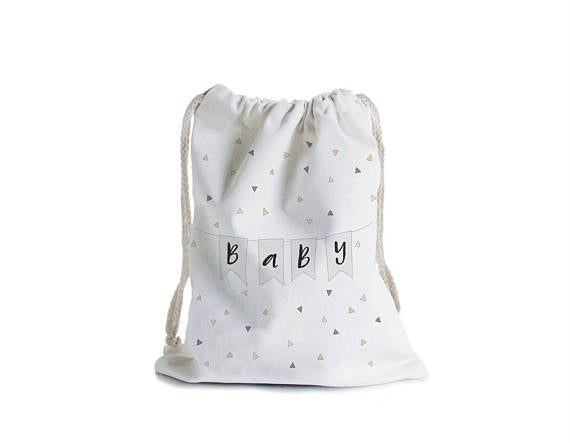 Baby bunting canvas gift bag