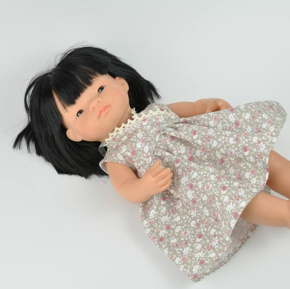 Miniland doll clothing | Floral dress for 38cm doll