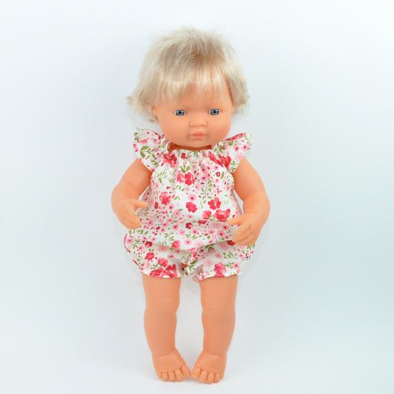 Miniland doll clothing | Floral romper for 38cm doll