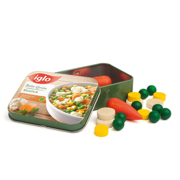 Wooden Frozen Vegetables In a Tin