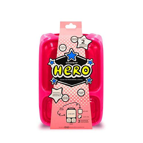 Hero Lunchbox | Neon Pink Red