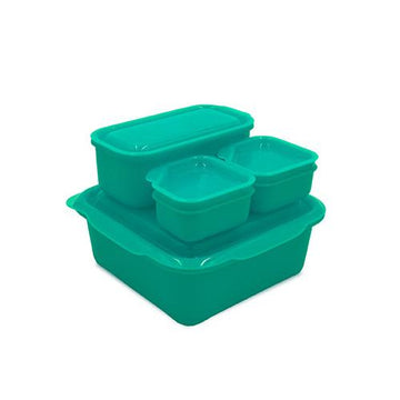 Portions On-The-Go Set | Neon Aqua