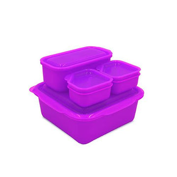 Portions On-The-Go Set | Neon Purple