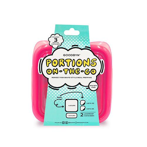 Portions On-The-Go Set | Neon Pink Red