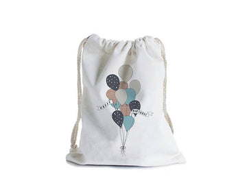 Birthday balloons canvas gift bag