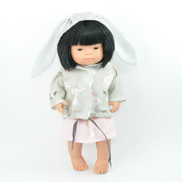 Miniland doll clothing | Jacket with bunny ears for 38cm doll