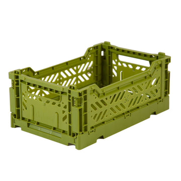Folding crate | Olive