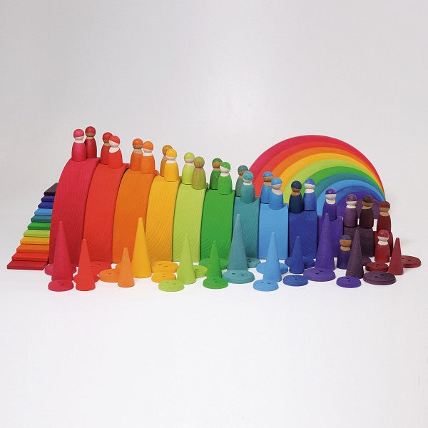 12 Wooden Friends | Rainbow