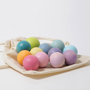 Small Wooden Balls 12 Pack | Pastel