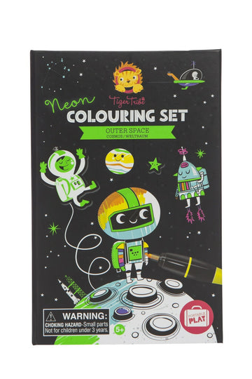 Neon Colouring Set | Space
