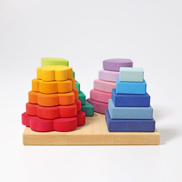 Stacking game shapes