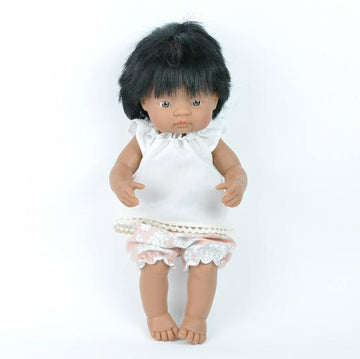 Miniland doll clothing | Floral bloomers and blouse for 38cm doll