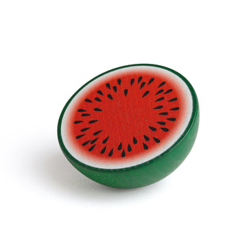 Wooden Watermelon Half Fruit