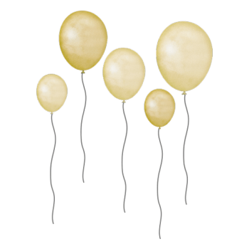 Yellow balloons | 5 pieces