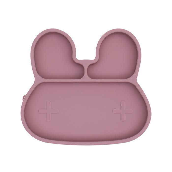 Bunny Stickie Plate | Dusty Rose
